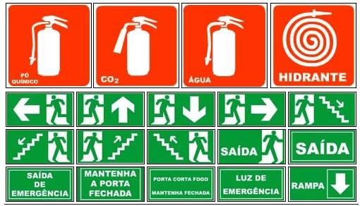 ce48d58826a6b A sinalização de segurança tem como principal objetivo informar e orientar  os trabalhadores sobre as áreas de risco, rotas de fuga e demais  informações ...
