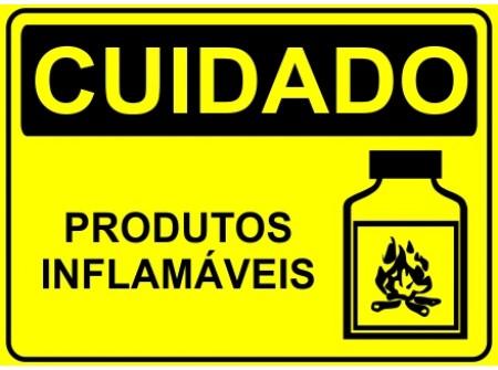 Cuidados com produtos inflamaveis